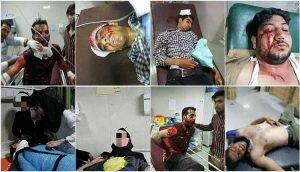 مجروحین تظاهرات مردم کازرون