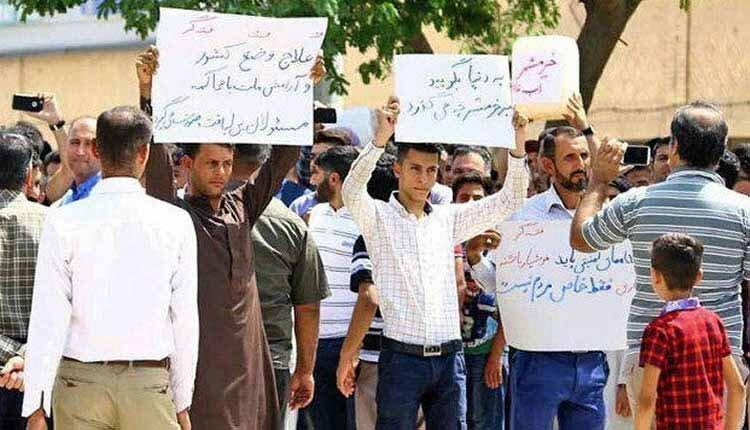 بازداشت شهروندان عرب در اعتراض به بی آبی