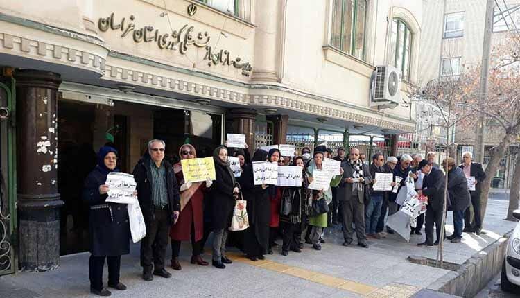 بازنشستگان معترض در مشهد