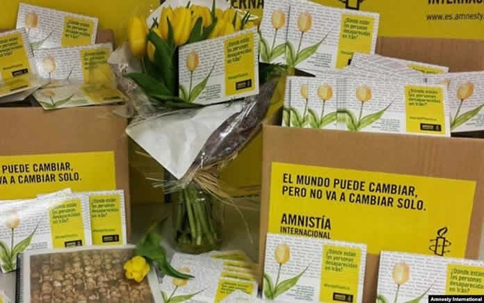 ارسال ۵هزار کارت پستال اعتراضی به سفارت ایران در اسپانیا توسط سازمان عفو بین الملل